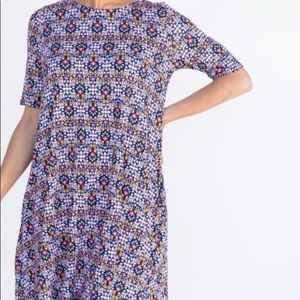 Floral purple and LilacSwing Tunic by Agnes & Dora